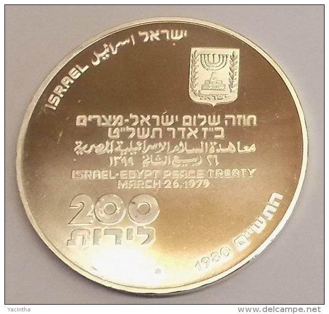 @Y@  Israel  200  Lirot  1980  Proof  Silver 900  (1380) - Israel