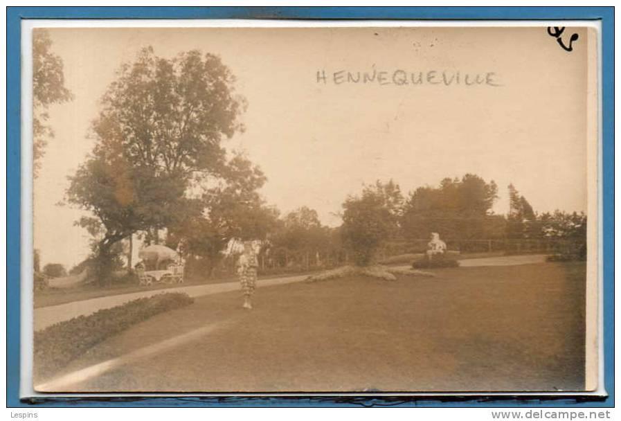 14 - HENNEQUEVILLE -- Carte Photo RARE - Autres Communes