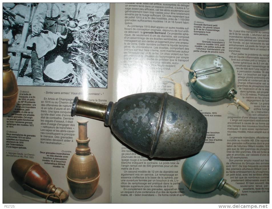 SUPERBE GRENADE INCENDIAIRE MODELE 1916 ((( TOTALEMENT INERTE ))) !!! - 1914-18