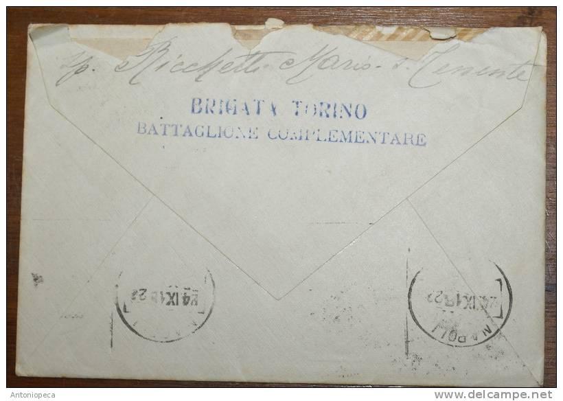 ITALIA 1918 , LETTERA AFFRANCATA COPPIA CENT 10 DEL 1906 - 1900-44 Vittorio Emanuele III