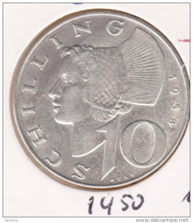@Y@    Oostenrijk  10 Shilling  1958       (1450) - Austria