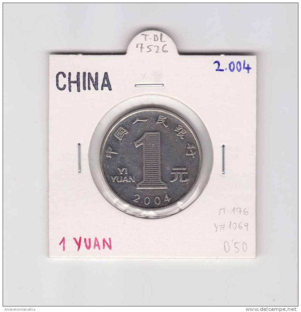 CHINA  1  YUAN  2.004 Y#1069 MBC     DL-7526 - China