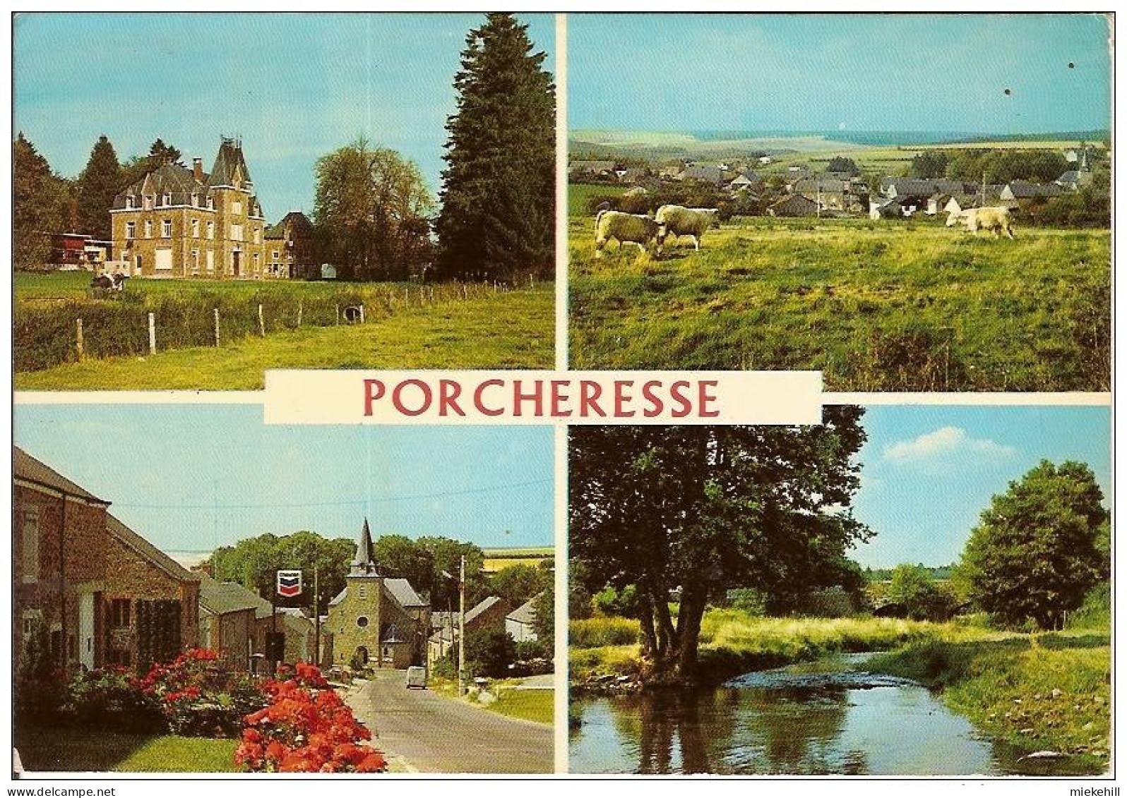 PORCHERESSE-MULTIVUES -chateau-station Essence Chevron- - Daverdisse