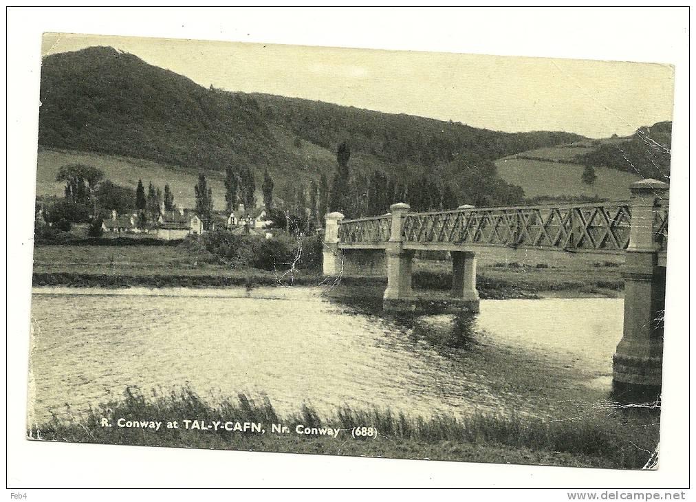 R.CONWAY AT TAL-Y-CAFN - NR CONWAY (688)  - 1957  - 2PICS  *(gb781) - Denbighshire
