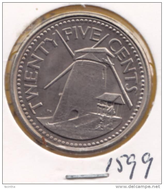 @Y@  Barbados  25 Cent  1994  (1599)  Unc - Barbades