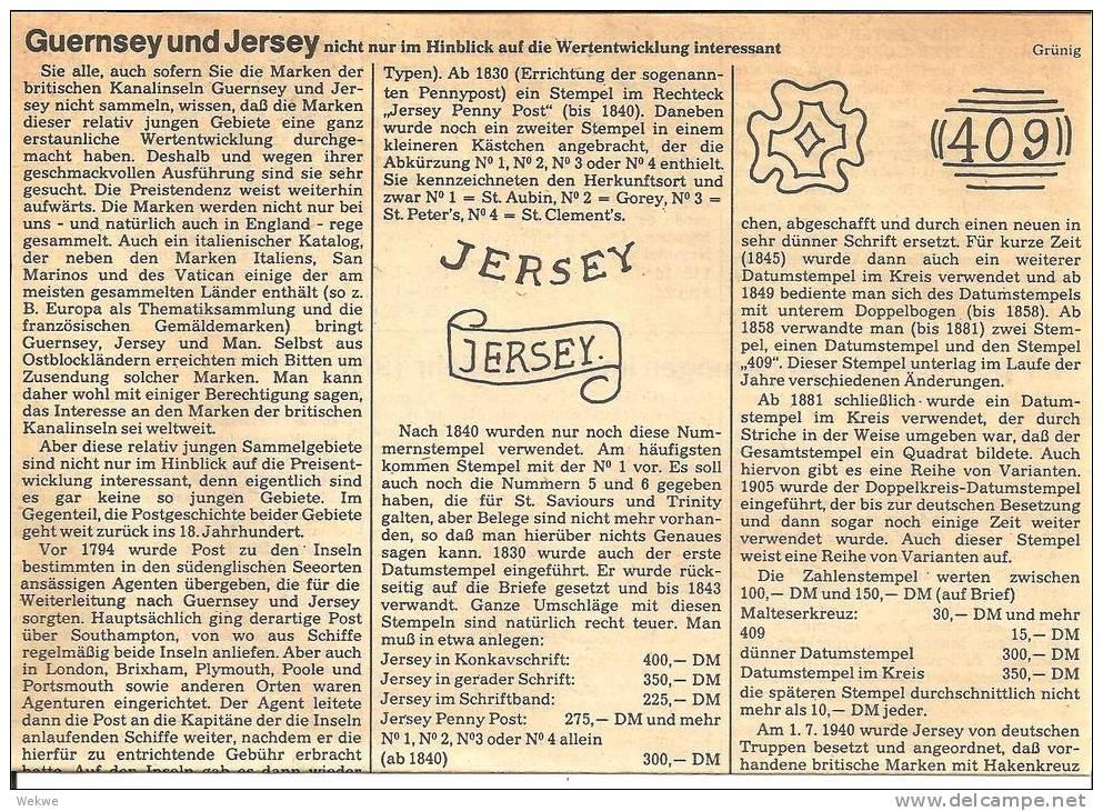 Guernsey-Jersey, Postgeschichtliches Von Der Vorphilatelie Bis Zur Dt. Besetzung - Philatelie Und Postgeschichte