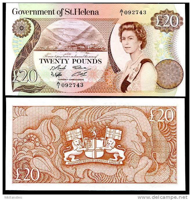 ST. HELENA 20 POUNDS 1986 P 10 AU-UNC - Isla Santa Helena