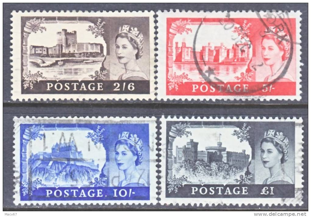 Great Britian 371-4  (o)  1959 Issue - 1952-.... (Elizabeth II)