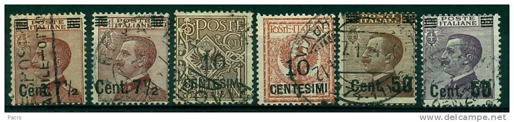 REGNO 1923-27 MICHETTI SOPRASTAMPATI  ANNULLATI - 1900-44 Vittorio Emanuele III