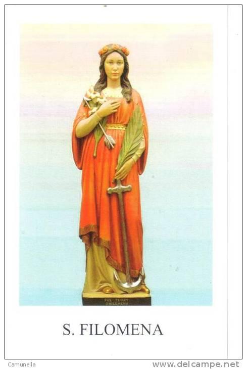 Santani-santa Filomena -con Preghiera Sul Retro - Santini