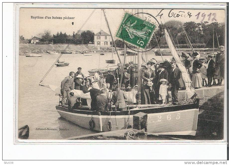 BATZ SUR MER - BAPTEME D'UN BATEAU PECHEUR - Batz-sur-Mer (Bourg De B.)