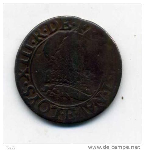 - FRANCE LOUIS XIII . DOUBLE TOURNOI 1632. . - 987-1789 Royal