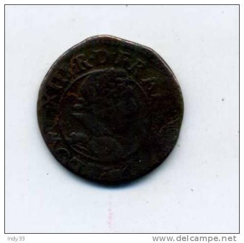 - FRANCE LOUIS XIII . DOUBLE TOURNOI 1628  . - 1610-1643 Louis XIII Le Juste