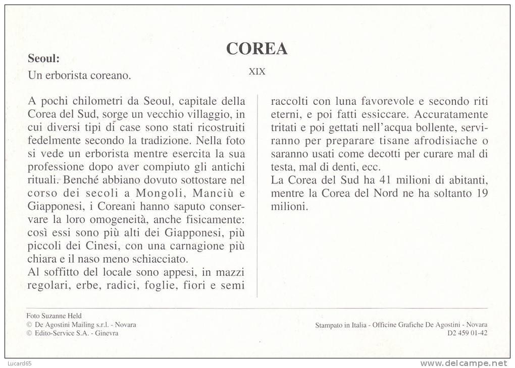 POSTCARD/ CARTE POSTALE / CARTOLINA COREA SEOUL - UN ERBORISTA COREANO - Corea Del Sud