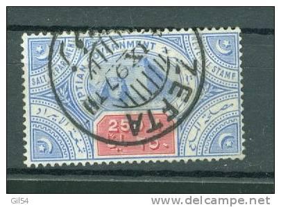 Timbre Fiscal Egyptien Periode Anglaise , Oblitération Postale ZEFTA En 1897 -  Ai4706 - Égypte