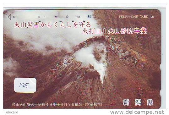 Volcan Volcano Vulkan Sur Telecarte (125) - Volcans