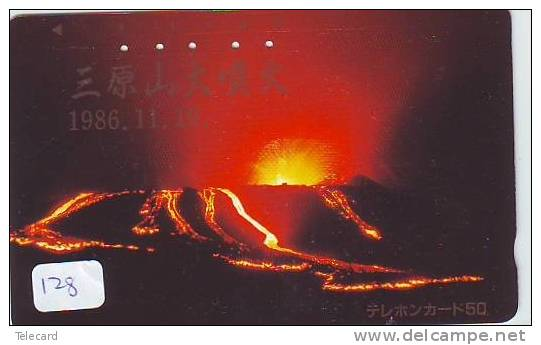 Volcan Volcano Vulkan Sur Telecarte (128) - Volcans
