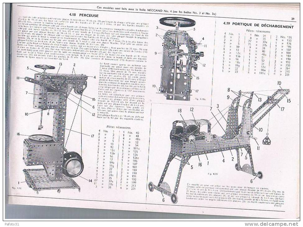 Manuel 5 D Instructions MECCANO 1956 64 PAGES  TBE - Unclassified