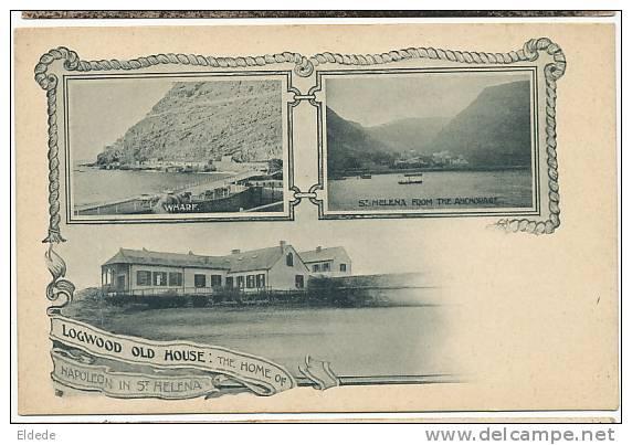 Sainte Helene Longwood Old House Napoleon Multi View Pioneer Card See Back - Saint Helena Island