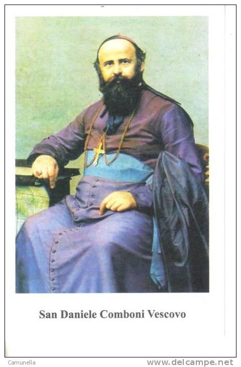 Santani-san Daniele Comboni Vescovo  -con Preghiera Sul Retro - Santini