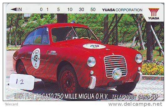 SCHEDE TELEFONICHE * GIAPONNE *  Télécarte JAPON  FIAT (12)  VOITURE *  CAR * AUTO * Phonecard JAPAN - Schede Telefoniche