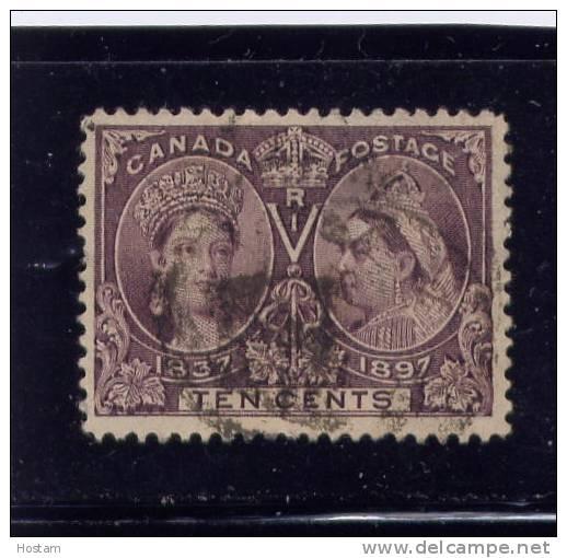 CANADA, 1897,USED # 57,  QUEEN VICTORIA DIAMOND JUBILEE, - Oblitérés