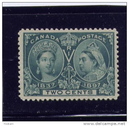 CANADA, 1897,# 52,  QUEEN VICTORIA DIAMOND JUBILEE, M NH FVF - Neufs