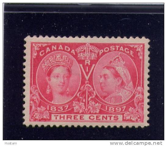 CANADA, 1897,# 53,  QUEEN VICTORIA DIAMOND JUBILEE, M NH VF - Neufs