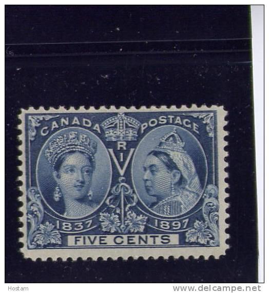 CANADA, 1897,# 54,  QUEEN VICTORIA DIAMOND JUBILEE, M H F - Neufs