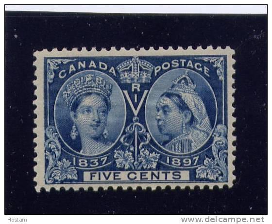 CANADA, 1897,# 54,  QUEEN VICTORIA DIAMOND JUBILEE, MN H - Neufs