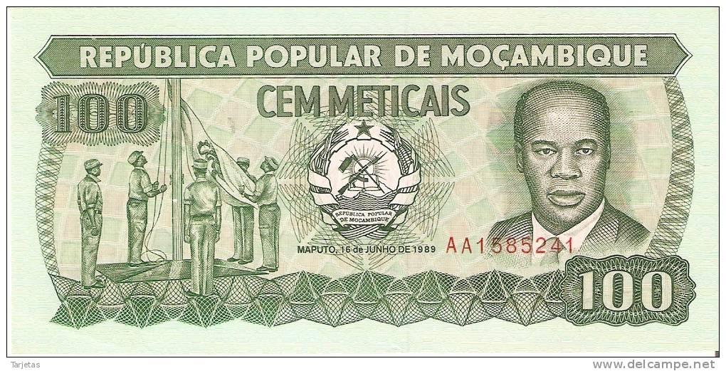 BILLETE DE MOZAMBIQUE DE 100 METICAIS DEL AÑO 1989 - NUEVO Y SIN CIRCULAR (BANKNOTE) - Mozambique