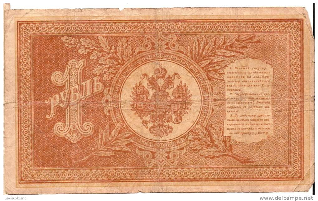 Billet De Banque/RUSSIE/  Avec Armoiries Des Tsars/Valeur 1/1898              BIL9 - Non Classés