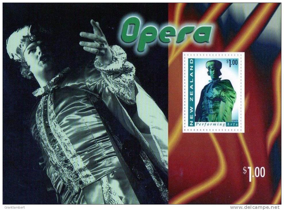 New Zealand 1998 Performing Arts $1 Opera - Singing Minisheet MNH - New Zealand