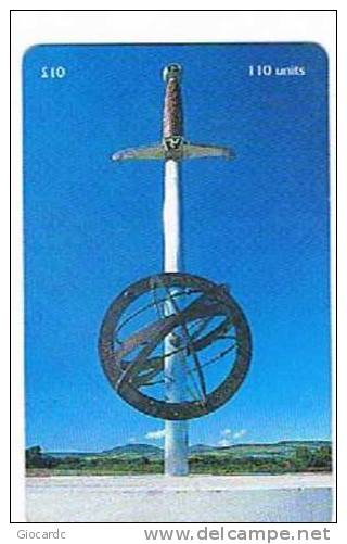 ISLE OF MAN - MANX TELECOM CHIP - MILLENNIUM SCULPTURE - BALLAFLETCHER, BRADDAN - (USED) CODE IOM4 - RIF. 7752 - Isola Di Man