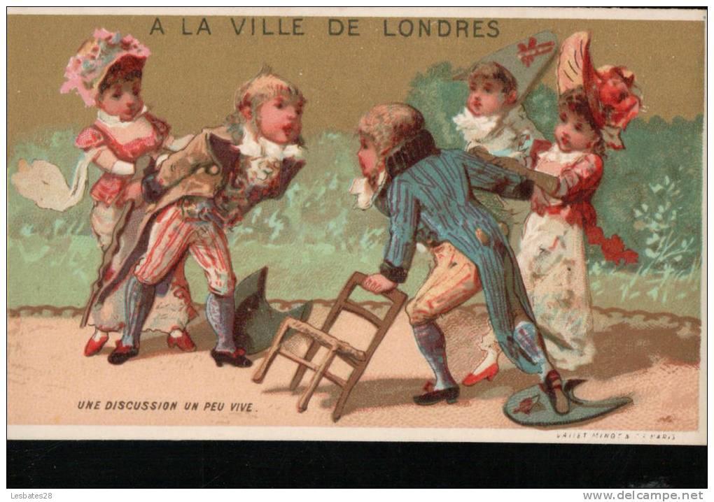 Chromos -MAGASINS- A LA VILLE DE LONDRES.- Scènes -  Enfants -UNE DISCUSION UN PEU VIVE.---Chromo- Mars 2012 -180 - Chromo