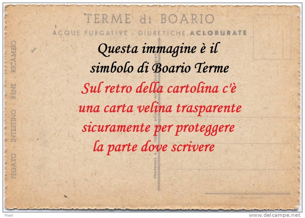 """SI53D Cartolina Card Boario Terme Brescia """"Antica FONTE Del MANZONI"""" Fine 800 Nuova Animata Acora Con Velina Al Retro - Brescia"""