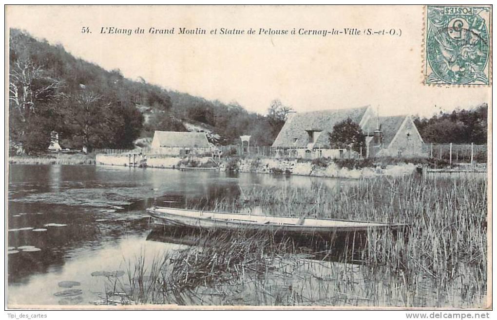 78 - Cernay-la-Ville - L'Etang Du Grand Moulin Et Statue De Pelouse - Cernay-la-Ville