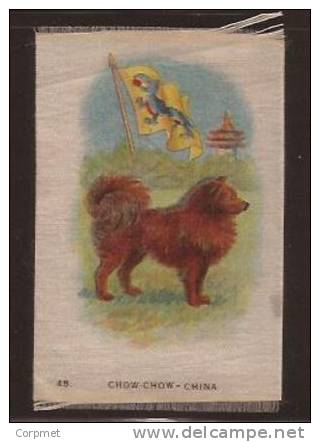 EARLY 1915 TOBACCO SILK FLAG WITH ANIMAL- ITC CANADIAN - CHOW CHOW - CHINA - Zigaretten