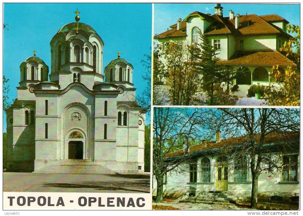 CHURCH MAUSOLEUM ON OPLENAC SERBIA KIRCHE L`EGLISE - Serbie