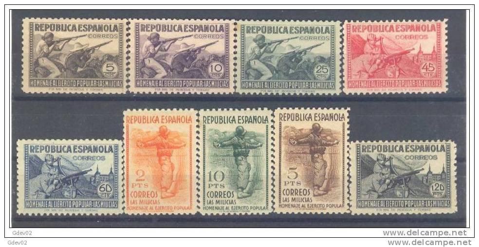 ES792SGDEV-L752TMILI.Espain. Espagne.HOMENAJE AL EJERCITO.1938.(Ed 792/0**)sin Charnela.MAGNIFICA - Militares