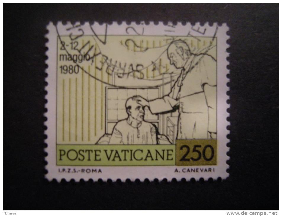 1981 - SASS N. 702, VIAGGI DEL PAPA,  Usato Garantito - Vatikan