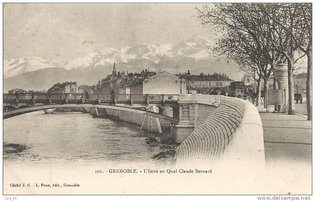 Isère- Grenoble -Quai Claude Bernard. - Grenoble