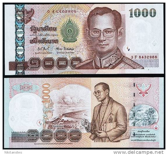 THAILAND - 1000 BAHT 2005 UNC - P 115 - Thailand