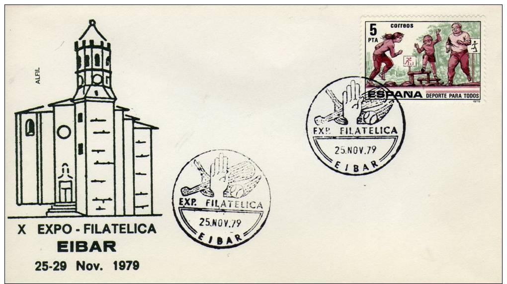 ESPANA  EIBAR  Pelota Vasca  25/11/79 - Sellos
