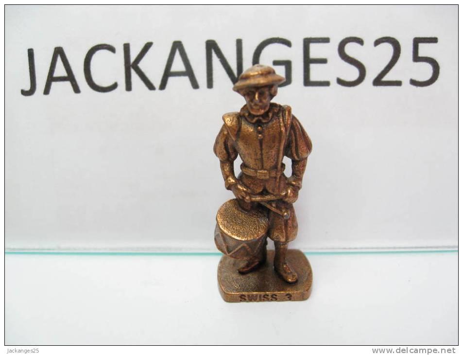 KINDER METAL GARDE SUISSE SWISS 3  K96 N 76 1995 SANS OHNE WITHOUT BPZ - Figurines En Métal