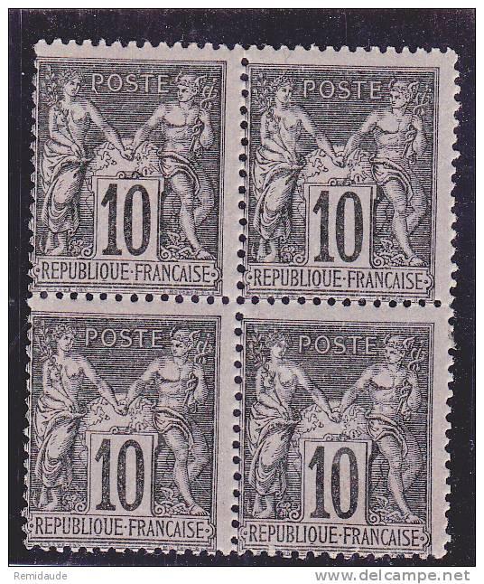 SAGE - YVERT N°103 **/*  En BLOC De 4  - COTE = 190++ EUROS - - 1898-1900 Sage (Type III)