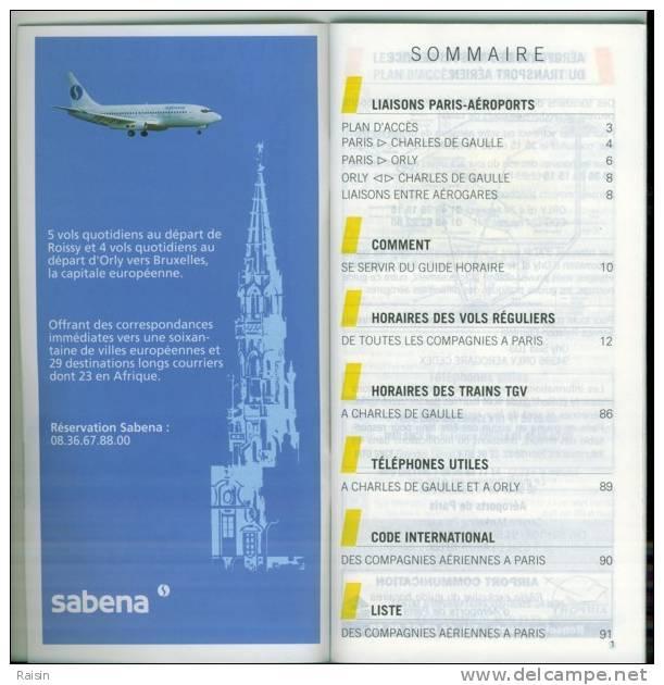 Guide Horaires De Toutes Les Compagnies à Paris 1996-1997 Aéroports TGV  Téléphones  Code International  TBE - Monde