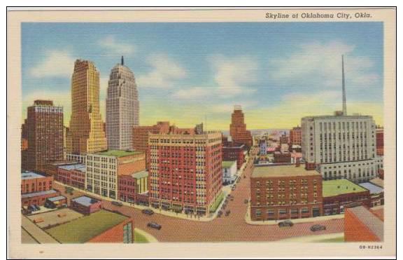 Birds Eye View Of Skyline Of Oklahoma City, Oklahoma 1930-40s - Oklahoma City