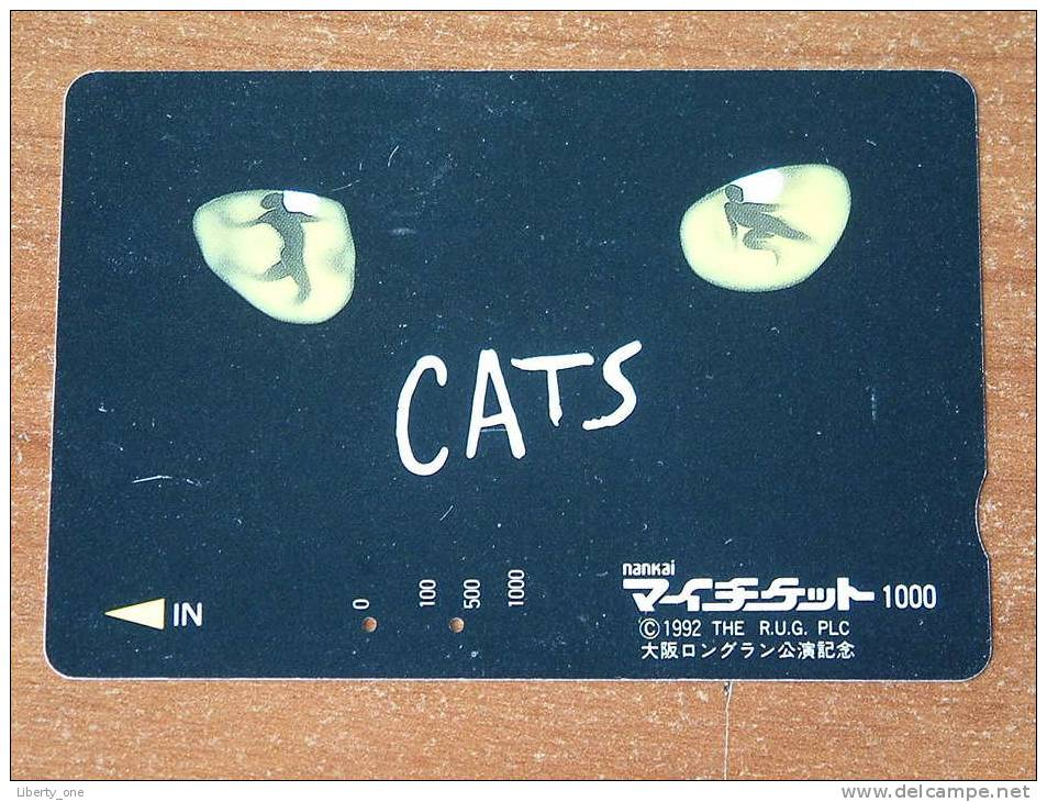 CATS - Nankai 1000 ( The R.U.G. PLC 1992 ) ! - Télécartes