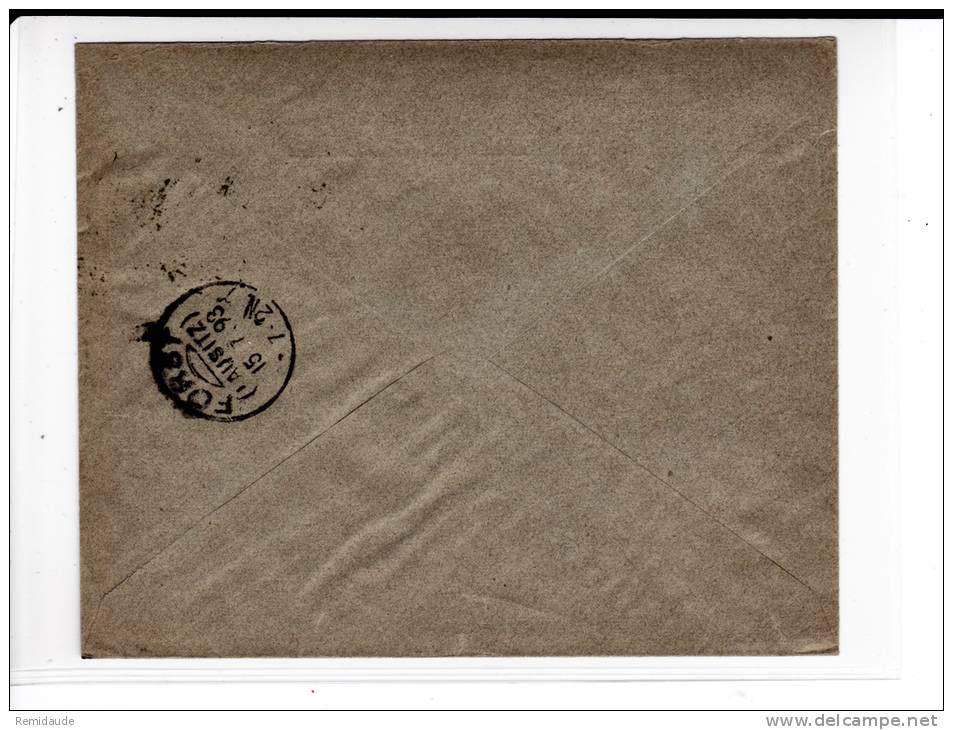 DANMARK - 1893 - ENVELOPPE COMMERCIALE De COPENHAGUE Pour FORST (GERMANY) - - 1864-04 (Christian IX)